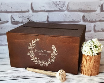 Wedding Card Box With Slot Wooden Card Box For Wedding Post Box Card Holder For Wedding Envelope Box Wooden Money Holder Cards Box Gift Box