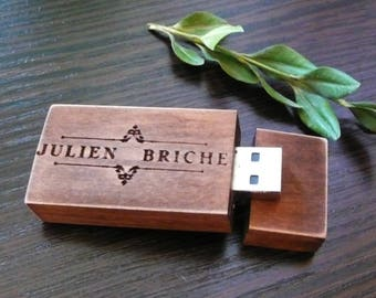 Wooden USB 2.0 flash drive 8 GB 16 gb 32 gb Valentines Day Gift pen drive custom USB wedding usb photography packaging wood usb photography