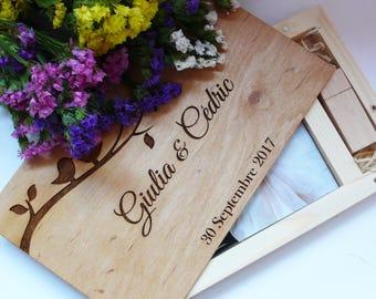 Wooden Photo Box 4''x6''(10x15 cm) with 8/16/32gb USB Box Custom Photo Book Wedding Box Photographer Box Anniversary Gift Wedding Album