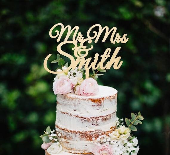 Hochzeitstorte Topper Holz Cake Topper Herr Und Frau Mit Etsy
