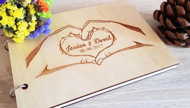 Wedding Guest Book Wooden Guest Book Wedding Album Wedding Book Rustic Guest Book Personalized Guest Book Memory Book Custom Guest Book