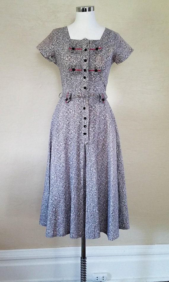50s Housedress - Novelty Print Dress - 1950s Dress