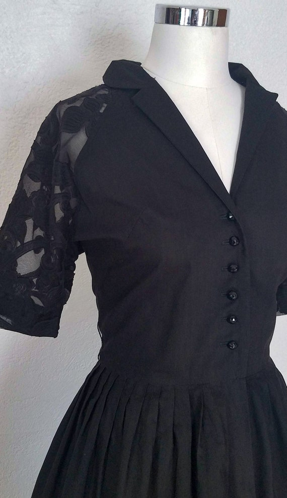 1950s Dress - 50s Lace Dress - 50s Shirtwaist - 50