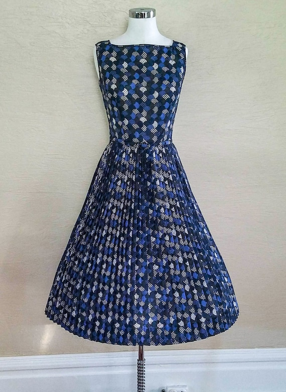 Novelty Print Dress - 50s Dress - 50s Sundress - 5