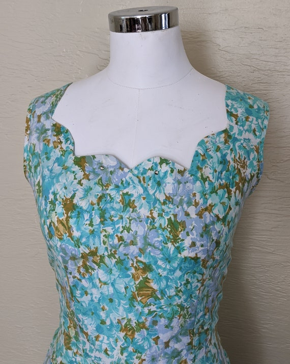 1950s Dress - Roses and Rhinestones! Sparkling 50… - image 7