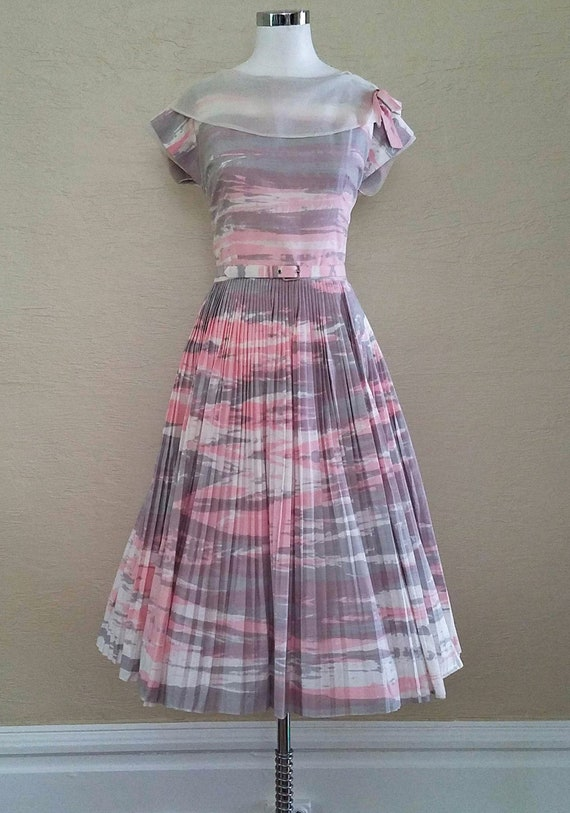 50s Dress - Swing Dress - 50s Day Dress - Novelty