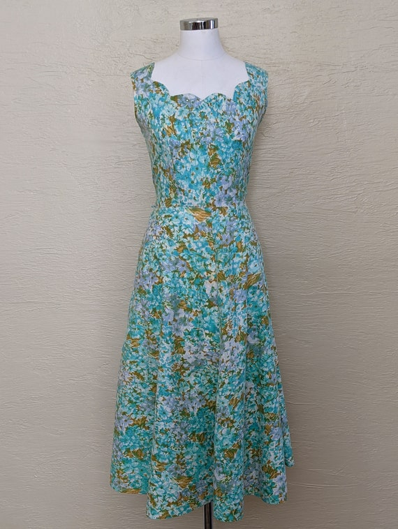 1950s Dress - Roses and Rhinestones! Sparkling 50s