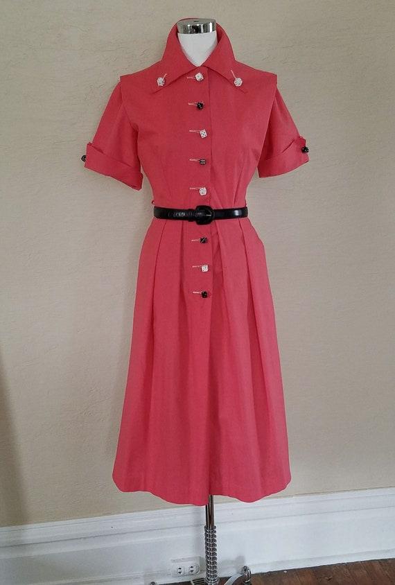Vintage 1950s Dress - 50s Dress - Rockabilly Dress