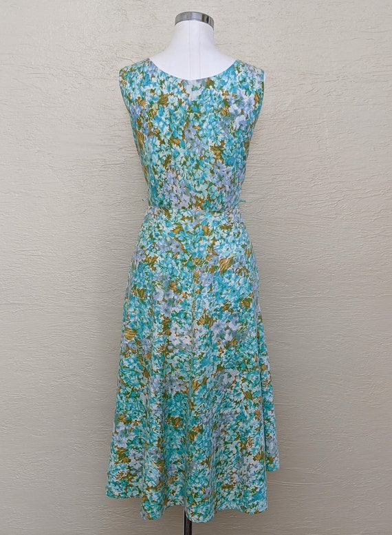 1950s Dress - Roses and Rhinestones! Sparkling 50… - image 4