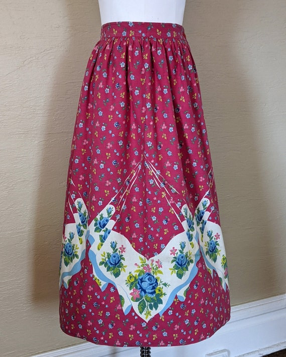 Rosies and Posies! Darling 1940s 1950s Border Prin
