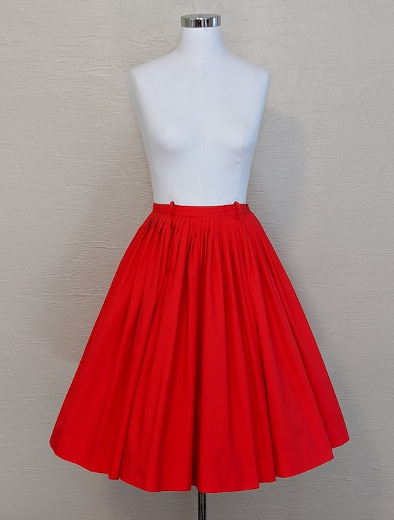 50s Cotton Skirt - 1950s Skirt - 60s Skirt - 1960s