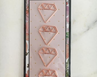 """Paperclips plated metall """"Diamond"""" rosegold"""