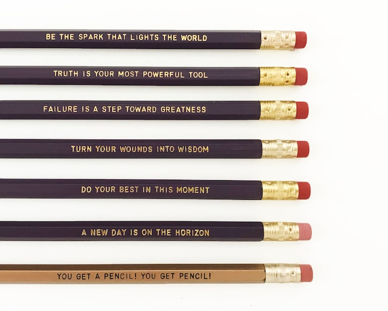 Oprah Winfrey quote pencil set - Inspirational pencil - Feminist pencils -  black history month - intersectional feminist gift idea under 20