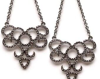 Edie Sedgwick Inspired Spiral Earrings