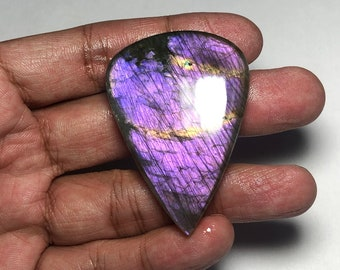 labradorite 18 Cts.D-3569 Beautiful! Natural Labradorite Cabochon Purple Spectrolite Labradorite purple flash Labradorite Loose Gemstone