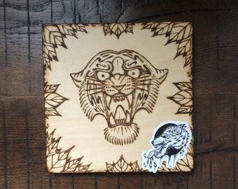 Tiger - ILVisuals wood burning & sticker pack