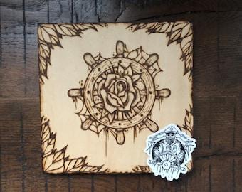 RoseWheel - ILVisuals wood burning & sticker pack