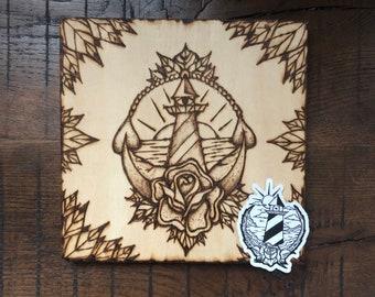 Lighthouse - ILVisuals wood burning & sticker pack