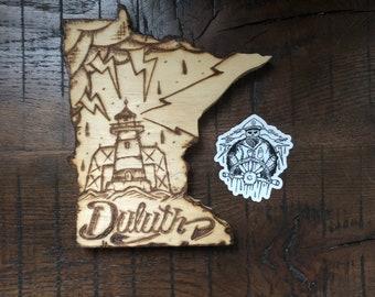Duluth.MN - ILvisuals Wood Burning & sticker pack.