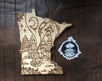 Alien Camp.MN - ILvisuals Wood Burning & sticker pack.