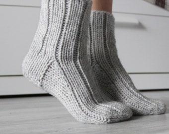 Women Men Cashmere Socks Autumn Winter Warm Slipper Bed Socks Fuzzy Socks UK