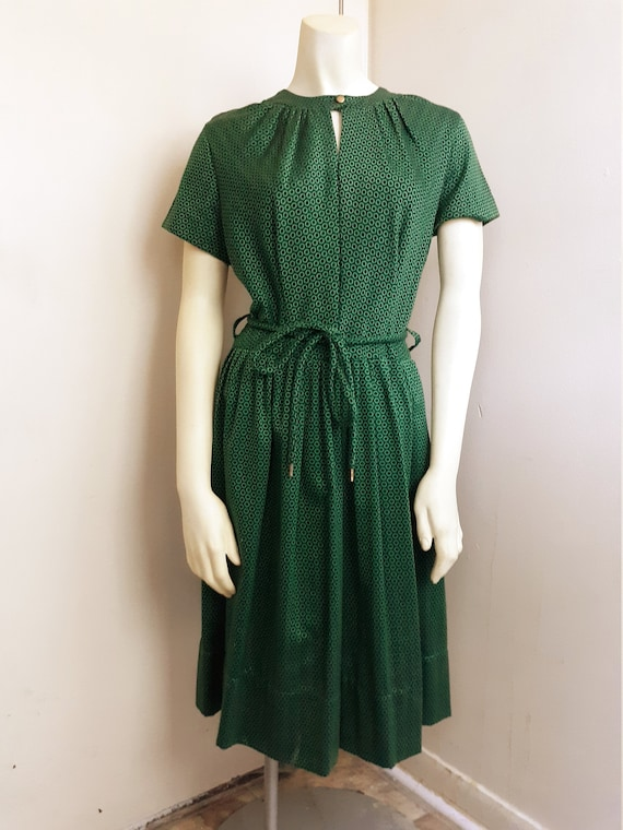 1950's Emerald Green Dress