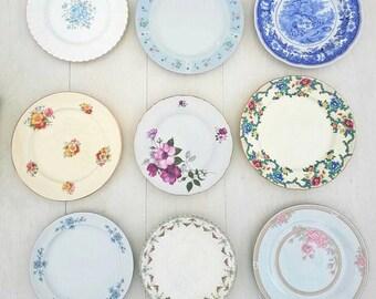 Dinner plates vintage plates vintage crockery mismatch China mismatch crockery wedding China wedding crockery bulk plates teaparty & Dinner plates | Etsy