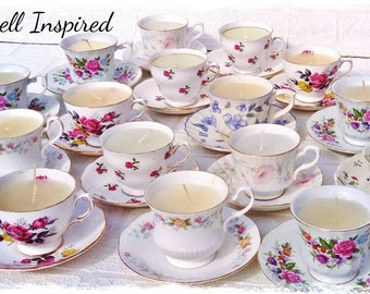 Tea cup candles Etsy