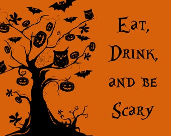 Printable Halloween Wall Art | Instant Download