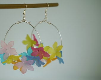 Floral Handmade Colourful Round Earrings Jewellery