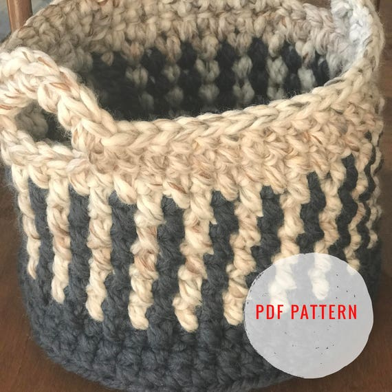 Crochet Pattern Fine Tooth Comb Basket Instant Download Etsy