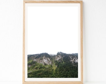 Nature Print, Mountain Photography, Mountain Wall Art, Mountains, Forest Print, Landscape Print, Modern Photography, Minimalist Printable