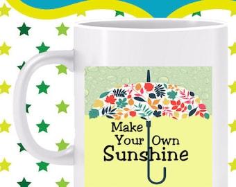 Make Your Own Sunshine Mug- Enjoy upbeat Binkle energy, get inspired, ride the energy of creativity and insight, transform rain to sunshine