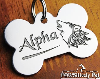 Custom Dog Tag For Dogs | Personalized Dog Name Tag | DEEP Engraved Pet ID Tag