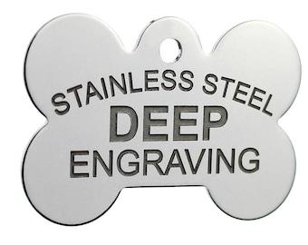 engraved pet tag etsy