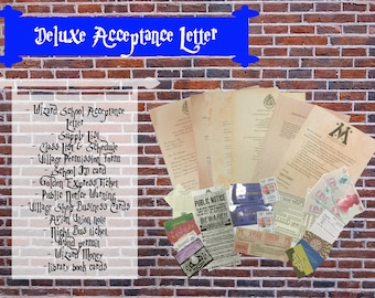 Deluxe Customized Hogwarts Acceptance Letter - Harry Potter - Wizard School