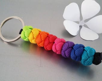 Rainbow rainbow Paracord keychain