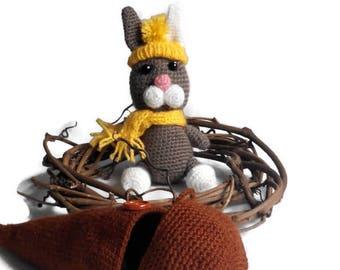 Rabbit in carrots, Amigurumi Doll, Crochet Bunny, Plush Amigurumi Bunny, Doll  amigurumi, Gift Ideas, Bunny in Crocheted Carrot, Stuffed Toy