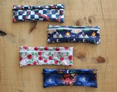 Toothbrush case, reusable straw case, utensil pouch, waterproof pouch case, transport pouch