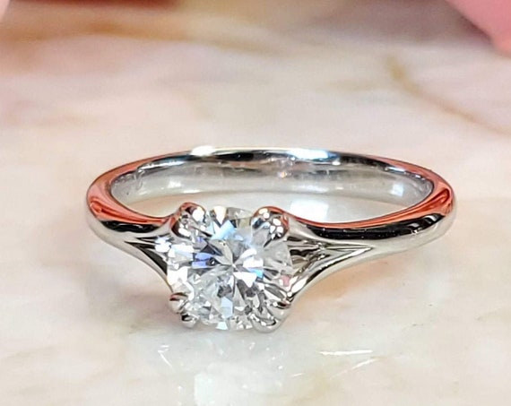0.82ct white gold solitaire engagement ring