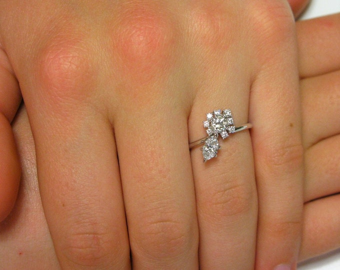 Marquise Cluster Diamond Ring / Engagement ring / Natural Diamonds / Marquise diamond.