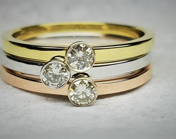 Dainty Diamond engagement ring.
