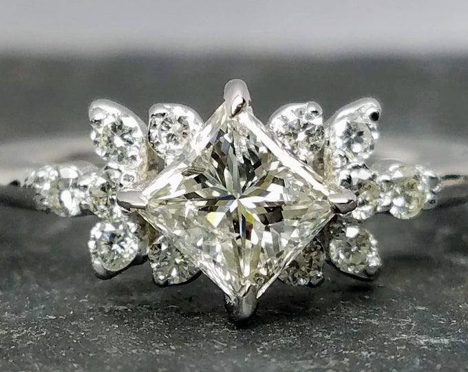 Princess cut diamond ring, Princess cut engagement ring, princess cut diamond engagement ring.
