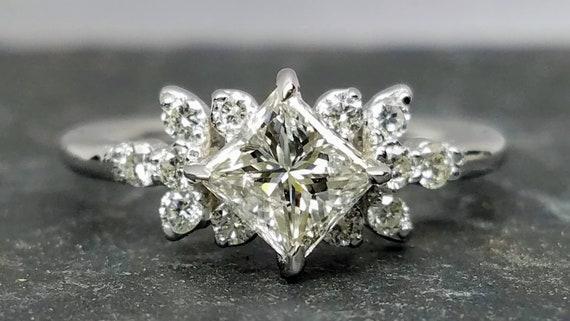 Princess cut diamond ring, Princess cut engagement ring, princess cut diamond engagement ring.