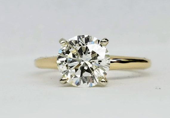 Solitaire diamond engagement ring. 1.34 carat diamond engagement ring.