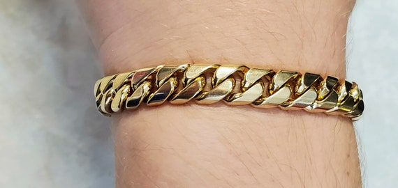 Solid 18K Gold 9mm Miami Cuban Curb Link Bracelet
