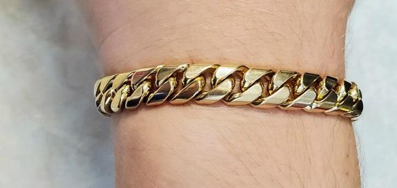 Solid 18K Gold 9mm Miami Cuban Curb Link Bracelet