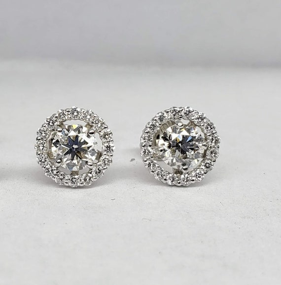 1.5 carat Diamond stud earrings with halo
