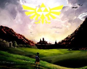 Hyrule Horizon: Legend of Zelda Tri-Force Print