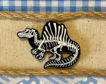 Spinosaurus Soft Enamel Pin | Spinosaurus Pin | Dinosaur Pin | Fossil Pin